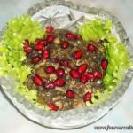 Салат из баклажан с гранатами