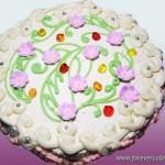 Торт бисквитный с творожным кремом «Творческий»