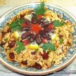 Каша рис с фасолью