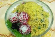 салат редиска с яйцом
