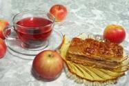пирожное слоеное с яблоками