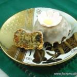 Кекс с орехами, курагой и черносливом