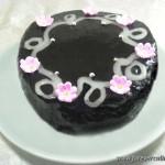 Торт бисквитный шоколадный с абрикосовой прослойкой