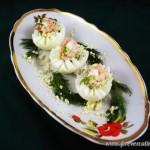 Яйца фаршированные с креветками
