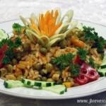 Каша с зелёным горошком и рисом