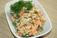 салат с яблоком и морковью Призал
