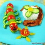 Украшение овощное – сороконожка