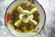 суп с фаршем и щавелем Чорсуаньский