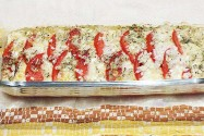 закуска помидоры с сыром  Коливьон