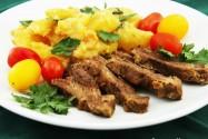 говядина с картошкой и хреном