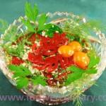Красный болгарский перец с чесноком и укропом