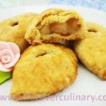 Пирожки слоеные с персиками