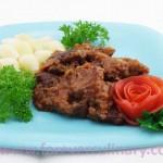 Мясо с овощным соусом запеченное Неланское