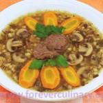 Суп перловый с грибами
