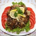 Мясо с грибами и цветной капустой
