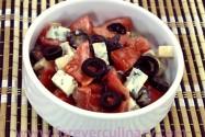 """салат с помидорами и сыром """"Дор-Блю"""""""