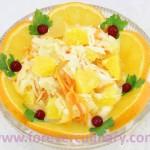 Салат из квашеной капусты с апельсинами