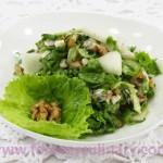 Салат с грушей и сыром Дор-Блю