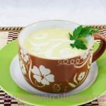 Суп-пюре из корня сельдерея с картофелем
