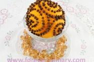 украшение апельсин с гвоздикой