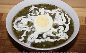 холодный суп со щавелем