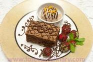 шоколадные брауни с орехами